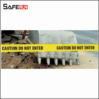 "3""*500'yellow non-adhesive polyethylene econnomy barricade plastic traffic barricades-""fire line do not cross"""