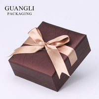 Customized Jewellery packaging box with soft touch paper