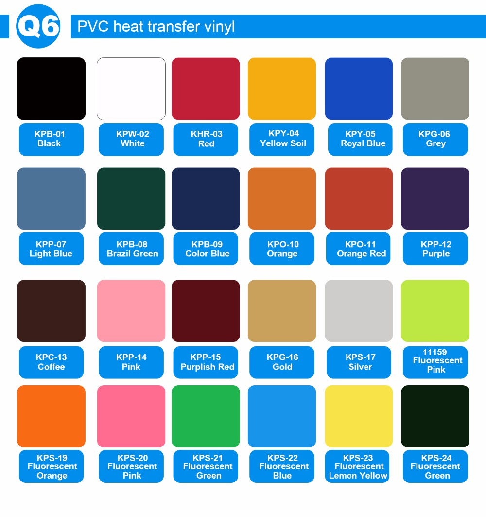 Kenteer wholesale new quality PVC heat transfer vinyl