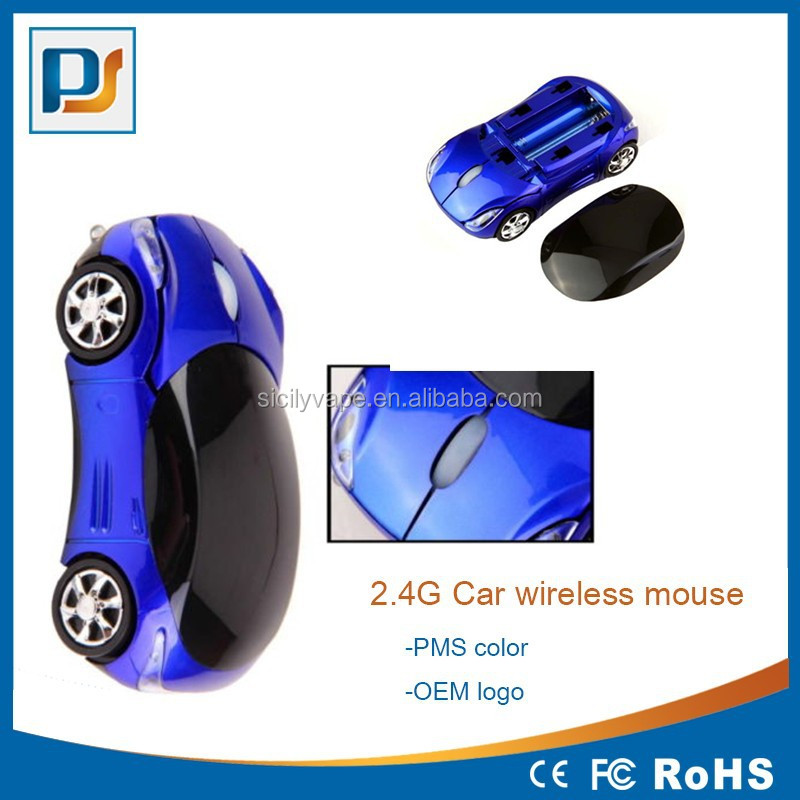 2.4G 3D Car Shape Wireless Optical Mouse for window Mice + USB Receiver for Laptop PC