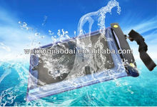 Factory plastic waterproof bag for ipad 3 touch clear transparent window swimming water protect case for valuables