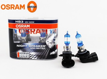 OSRAM 9005 HB3 3600K NIGHT BREAKER UNLIMITED 12V 60W Headlight Bulbs 9005NBU