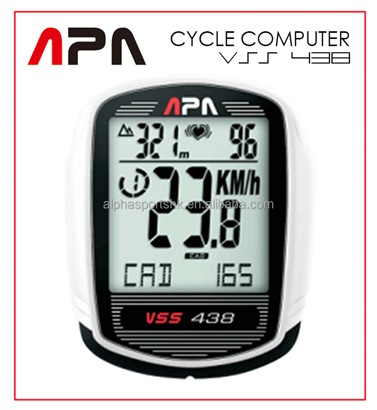 Alpha Sports Alphasports APA VSS438 Wireless Speedometer Distance Fitness Cadence Temp Altimter Heart rate Cycle computer
