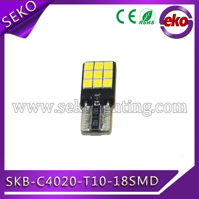 New arrival led t10 canbus ,high power cob 2835 18smd car led bulb