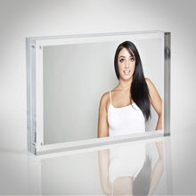 Hot sale clear acrylic picture frame stand/sign holder stand/menu holder