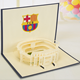 Business Postcards Football Field Cards Building 3D Cut Pop Up Handmade Greeting Card Invitation Cards With Envelope
