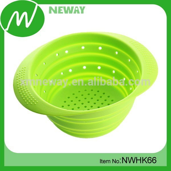 fashion design durable collapsible silicone silicone sink strainer