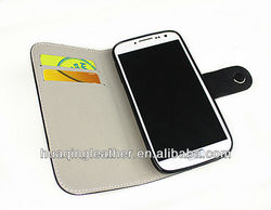 leather case for SamSung galaxy S4 i9500 For galaxy S4 case with Metal bar decoration For galaxy S IV case with card holder