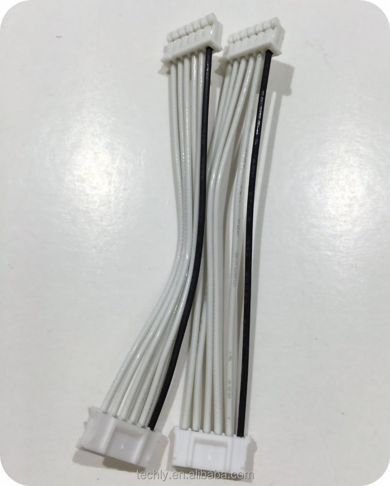 Custom 2.0 Pitch 6 PIN Connector to Connector 200C Teflon Wire Cable Harness
