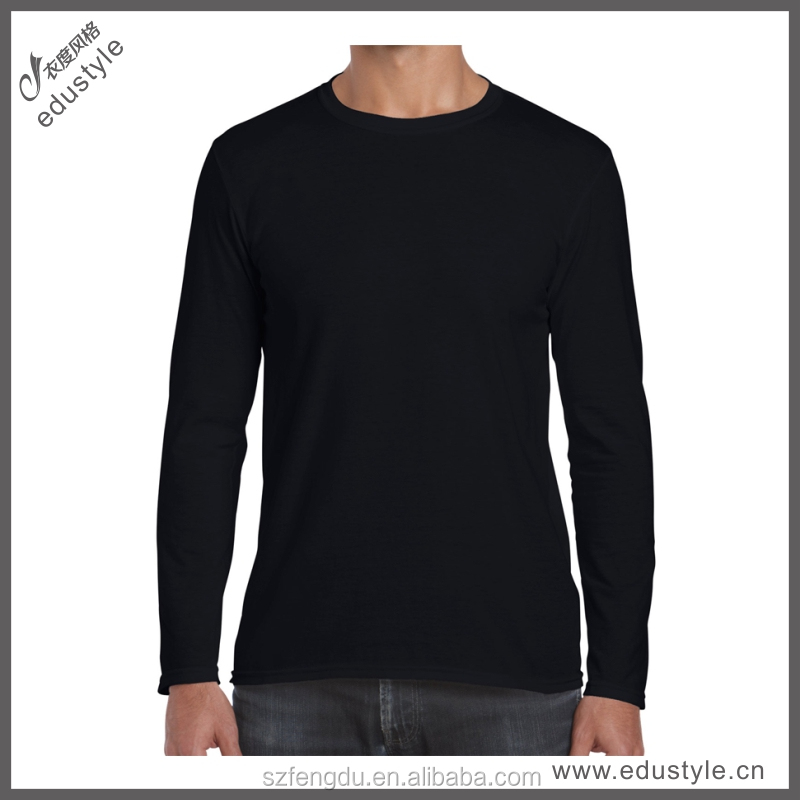High Quality korea wholesale t-shirt with Long Sleeve Round Neck