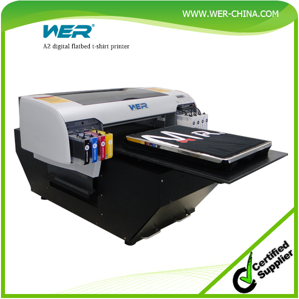 Hot selling WER-D4880T Digital economical t shirt printing machine direct to t-shirt printer