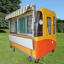 Customed size function mobile food cart kiosk van trailer for sale,outdoor food cart ZQW-C2