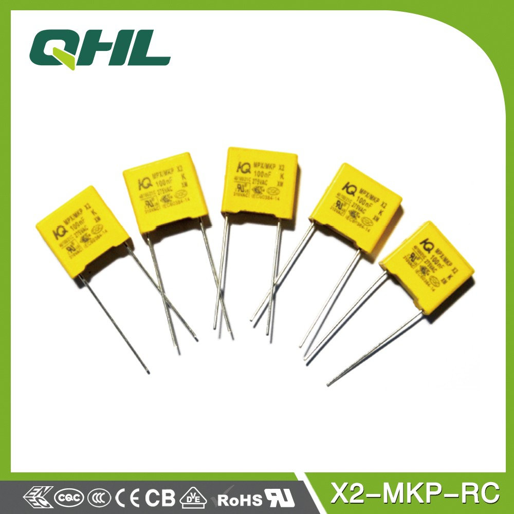 X2-MKP-RC polypropylene film DC capacitor/safety capacior
