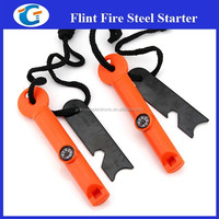 Camping product 6 in 1 survival kit flint fire starter