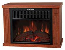 portable heater with fireplace flame