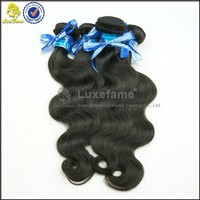 LuxeFame factory price 6a tasteful body wave brazilian human hair extension