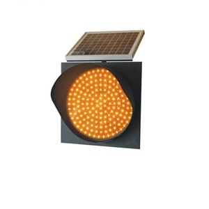 LED Solar Powered Flashing Warning Beacon/Battery Powered Flashing Yellow Light