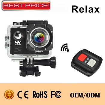4K display wifi H.264,30M waterproof Sports camera,motion function,IP68 remote control action camera wifi sj5000