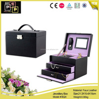velvet jute jewelry linenjewelry storage packaging boxes for jewelry box (8024)