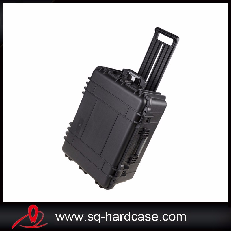 plastic pull rod flight case,plastic military computer case,waterproof plastic protective case