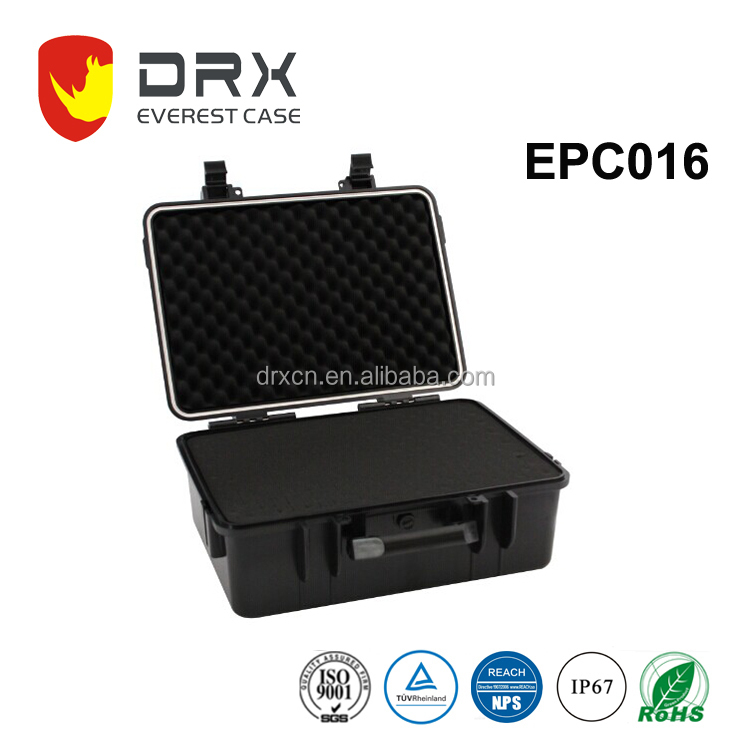 Plastic camera cases waterproof equipment cases with handle