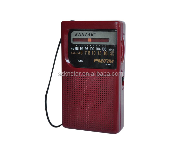 AM FM 2 AA Batteries power supply mini radio K-259