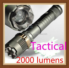 wholesale 2015 new 1000-2000Lumen attack head cree xml T6 led tactical flashlight