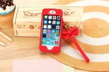 2014 colored window cute pu leather phone case for iPhone5