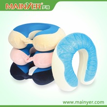 Cooling Gel Memory Foam Neck Pillow With Washable Cover Air Permeable Material for Summer Sleeping