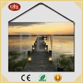 Home Decor Led Lakeside Sunset Drawing Canvas Painting Material