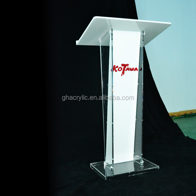 high-grade clear plexiglass acrylic church pulpit