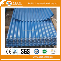 Color roofing tile, galvanized corrugated steel sheet, used for outdoor roof