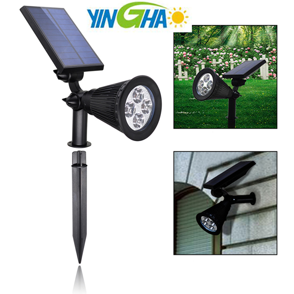 landscape spotlight solar spotlight stake led solar landscape lighting