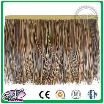 Low price PVC material yellow thatch tile roof