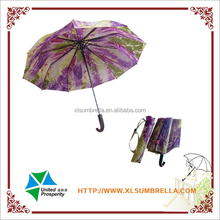 automatic 3 fold curve handle outdoor umbrella