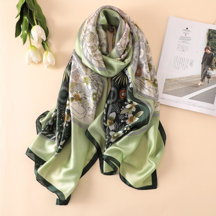 Wholesale Custom Printed 100% Silk <strong>Scarf</strong> Women Chiffon <strong>Scarves</strong>