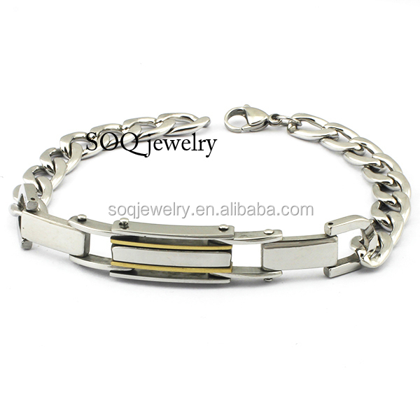 SSB100023 Wholesale Fashion Stainless Steel Bracelet Hand Chain for Men Jewelry