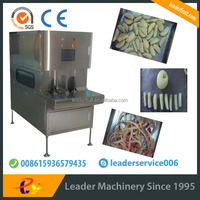 Leader desirable Apple peeling/decoring/cutting/color-protecting/discharging machine