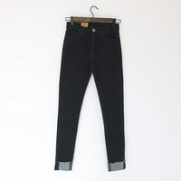 ZH03311B new women's waist jeans elastic pencil pants feet pants