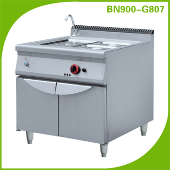 Heavy duty Industrial kitchen equipment combination bain marie with cabinet