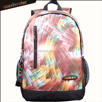 "18"" hot shot brand name backpack printed fashion packs high school bags for girls"