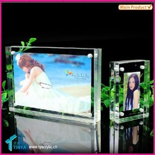 Home Decoration Acrylic Picture Frames Clear Sign Holders For Tabletop