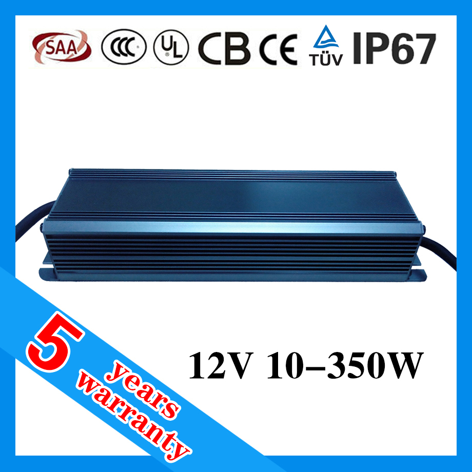 5 years warranty 30W 60W 70W 100W 120W 150W 200W 250W 300W waterproof LED power supply 12V with PFC