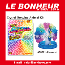 New Novelty Toy Bloomsoms Paper Peacock Crystal Growing Kit