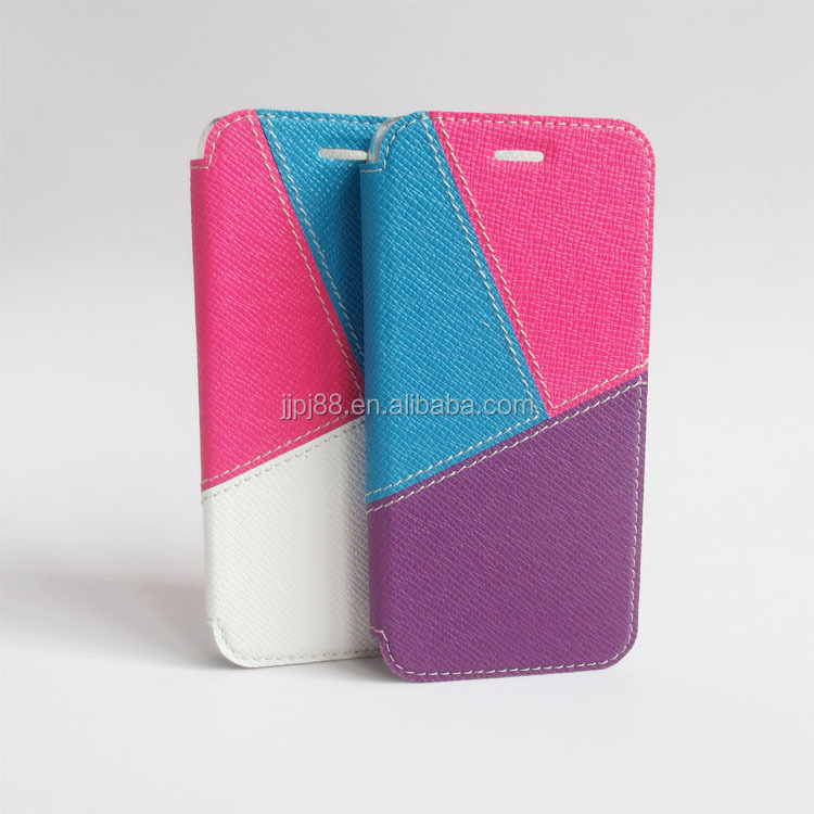 Hot sell mixed color leather cell phone case for iphone Manufacturer