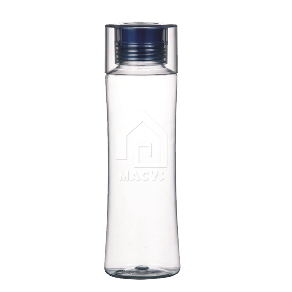 Slim Water Bottle 650ml plastic slim water bottle with silicon spout and clear top