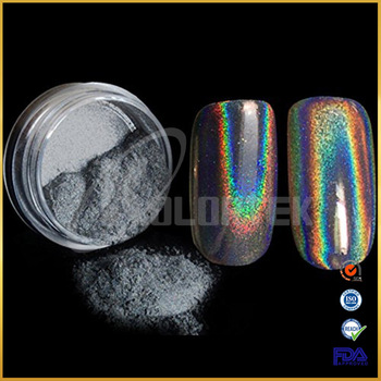 2017 rainbow effect super unicorn powder pigment for nail polish, holographic pigment for nail