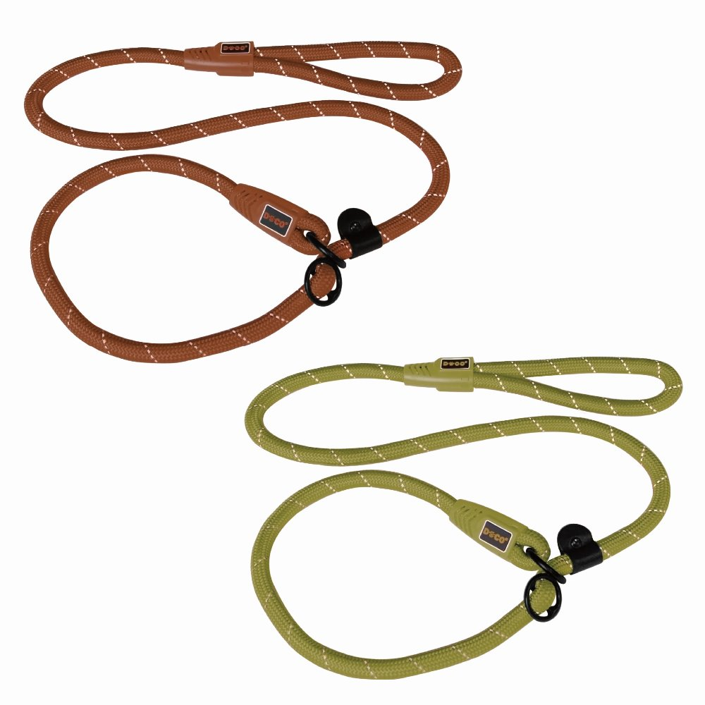 New innovative pet products reflective rope pet collars leashes Large Lime