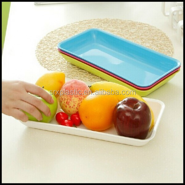 Home Essentials Plastic Fruit Serving Tray Kitchen plastic trays,custom plastic serving trays manufacturer