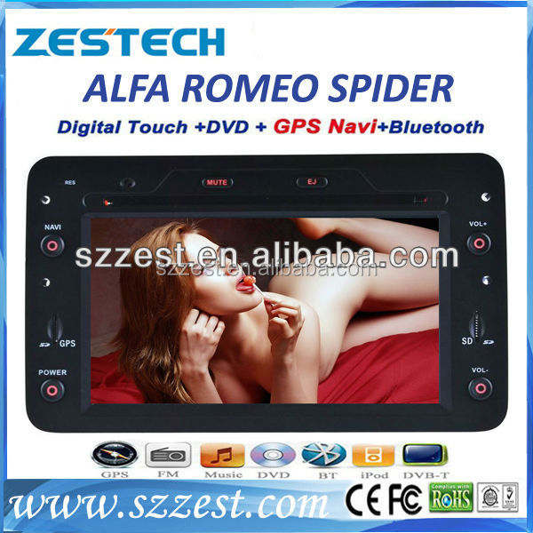 ZESTECH 2 din touch screen gps oem car multimedia system for Alfa Romeo Spider gps navigation